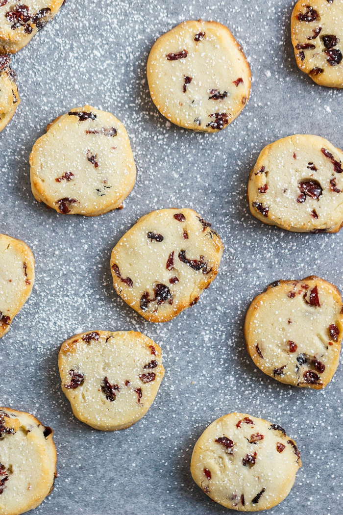 galletas de mantequilla navideñas con arándanos, fotos y recetas de postres navideños