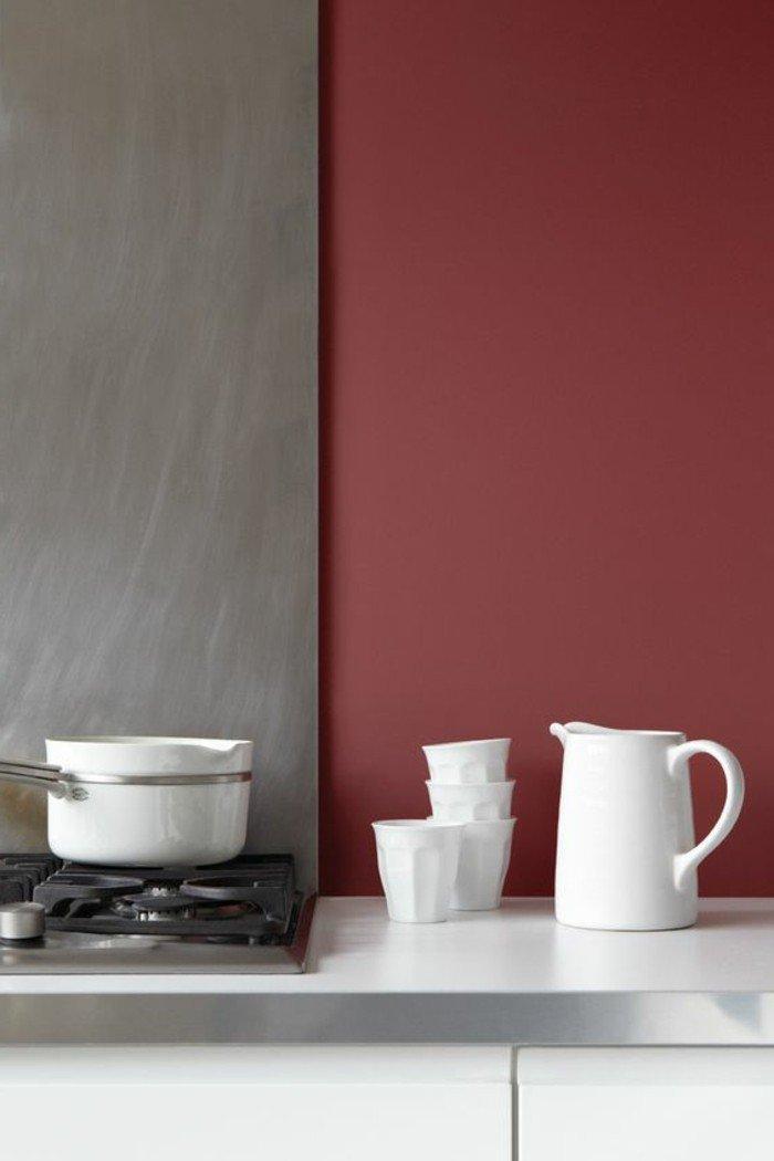 colores que combinan con gris en la decoración de la casa, cocina de diseño, paredes decoradas en gris y rojo