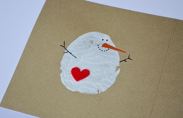 manualidades navideñas para hacer con los niños, postales de navidad personalizadas con dibujos