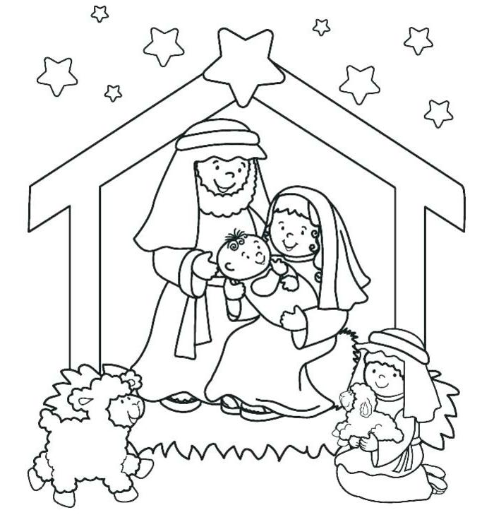 dibujo del adviento para colorear, dibujos de navidad para copiar, actividades para niños pequeños Navidad