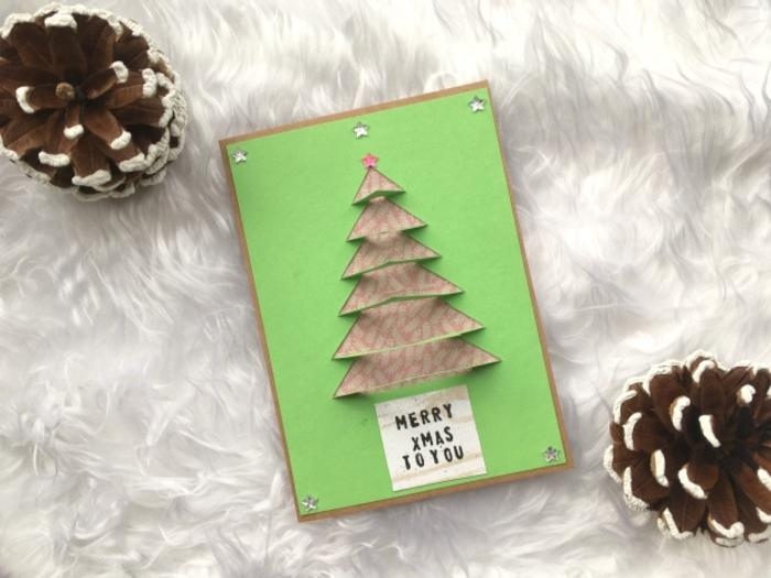 ideas de postales de navidad originales tridimensionales con tutoriales paso a paso, preciosas tarjetas navideñas DIY
