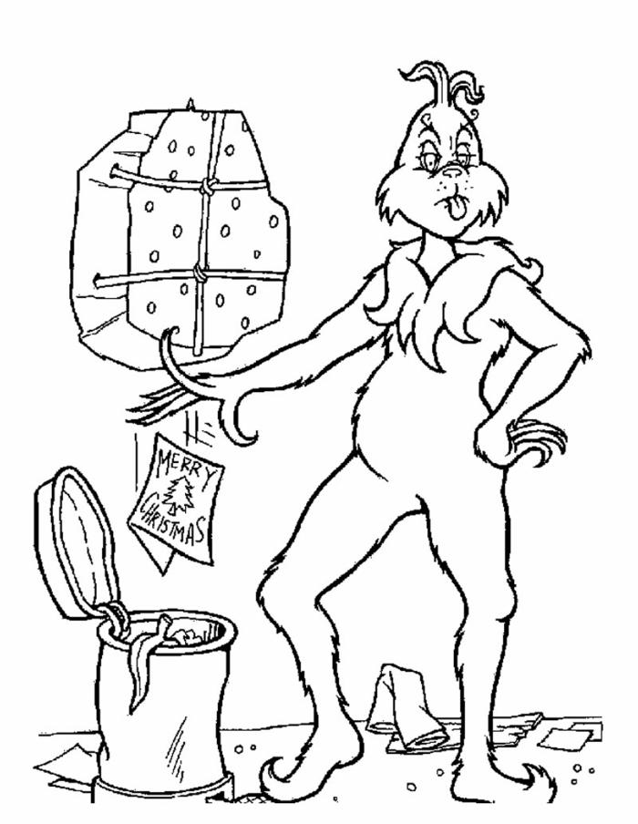 dibujos con personajes de las peliculas navideñas, dibujos de Grich, imágines para colorear
