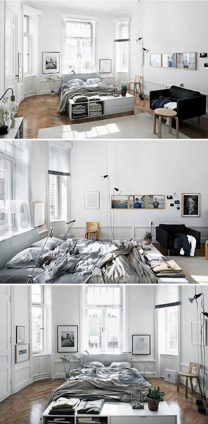 ideas de decoracion pisos pequeños en colores claros, salón comedor decorado en gris