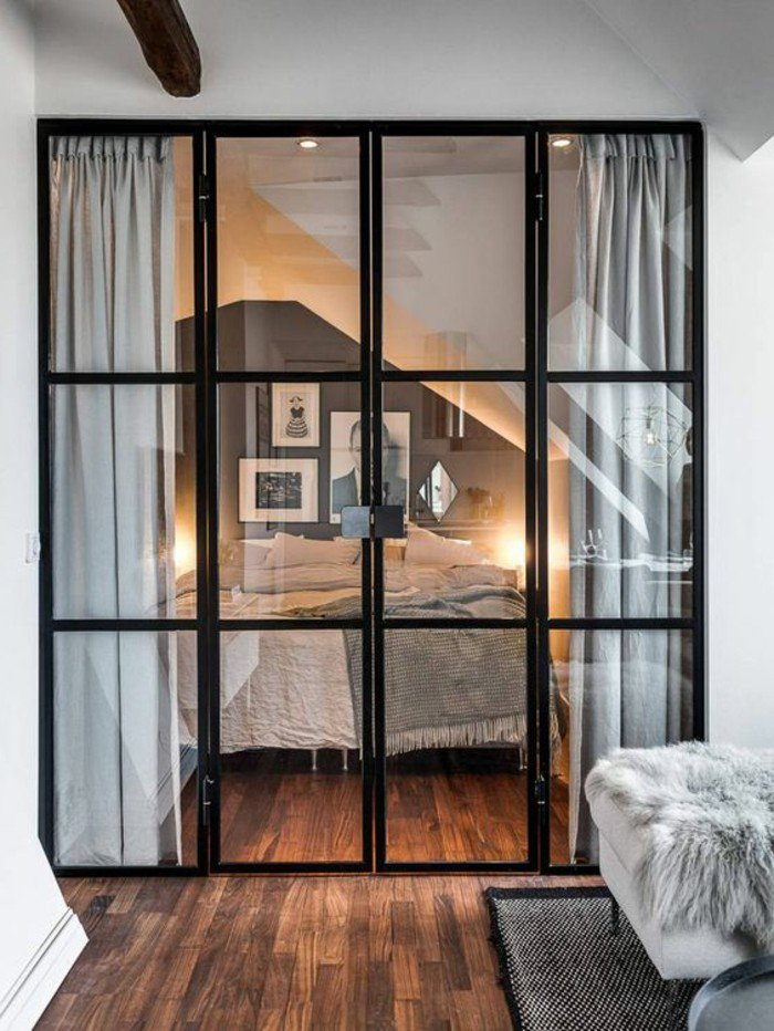 ideas de decoracion pisos pequeños, ingeniosas ideas sobre como separar el espacio en un estudio