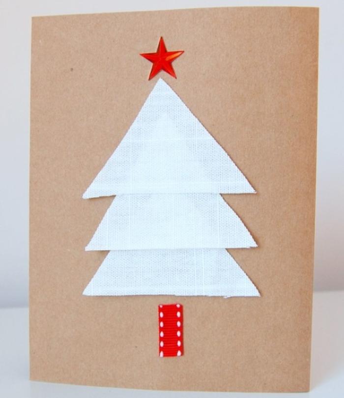 postales de navidad personalizadas en estilo minimlasta, ideas sencillas de tarjetas hechas a mano