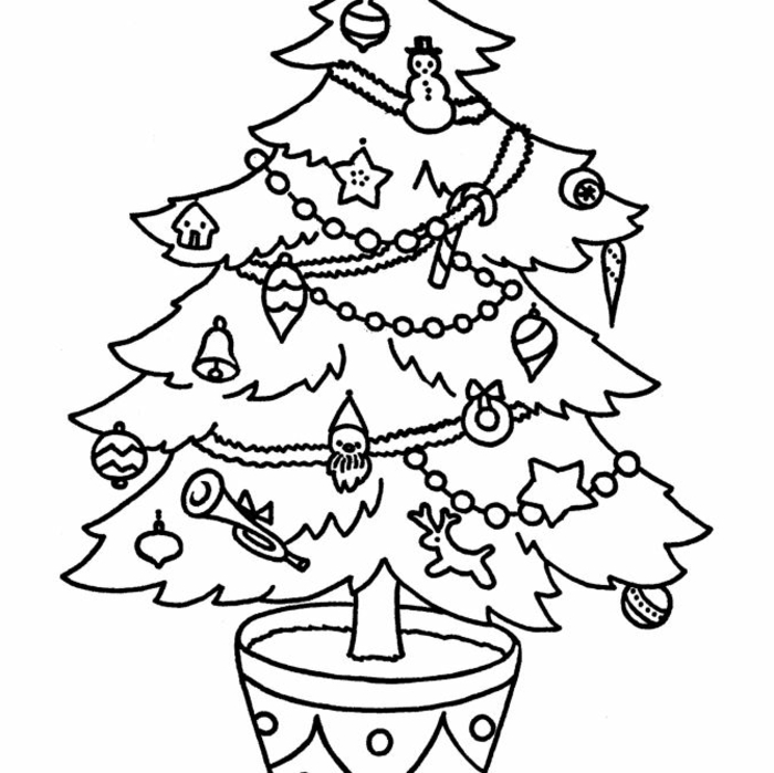 Imagenes De Adornos De Navidad Para Colorear.1001 Ideas De Dibujos Navidenos Para Colorear