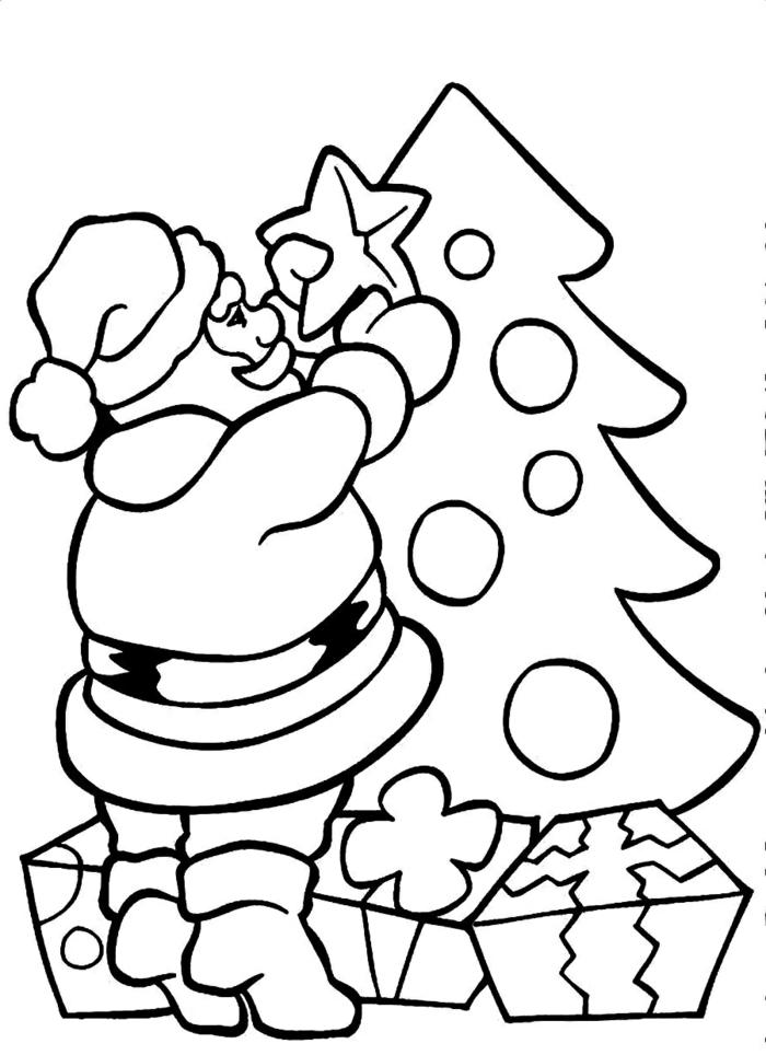 dibujos de papa noel para colorear, originales propuestas de actividades infantiles para navidad
