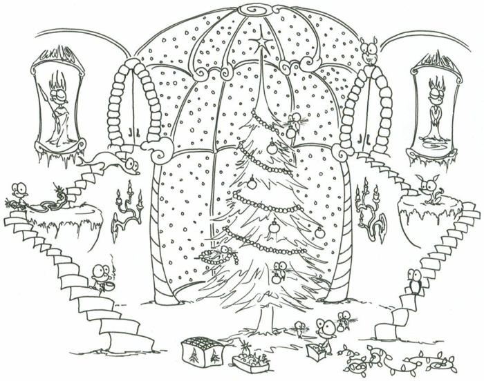 dibujos de navidad para copiar para niños y adultos, fotos descargables de dibujos para Navidad