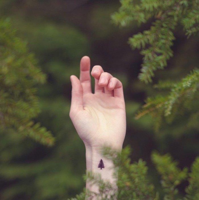 tatuajes pequeños relacionados con la naturaleza, ideas de tatuajes para los amantes de la naturaleza