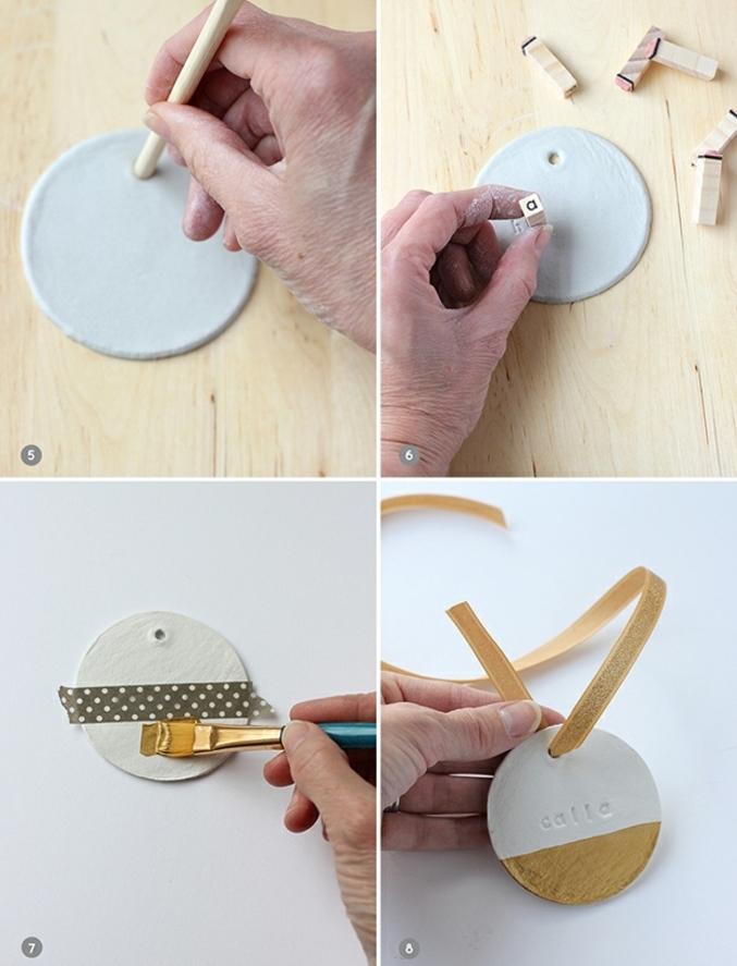 bonitas ideas DIY con tutoriales paso a paso, ornamentos de arcilla caseros, decoracion navideña manualidades