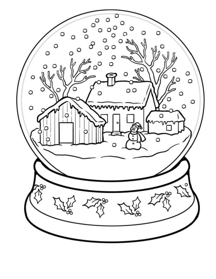 ornamentos navideños bonitos en dibujos para colorear, más de 100 imágines descargables para Navidad