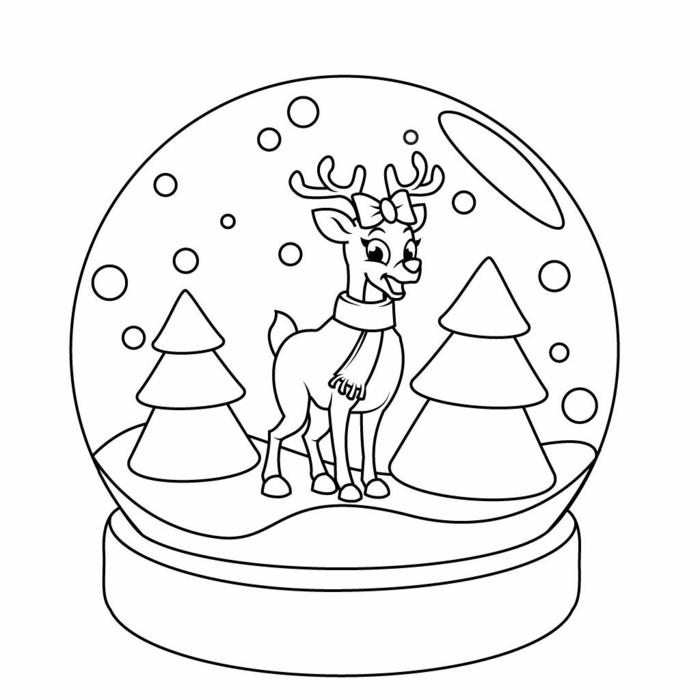 ideas de actividades para niños en Navidad, colorear dibujos descargables en colores