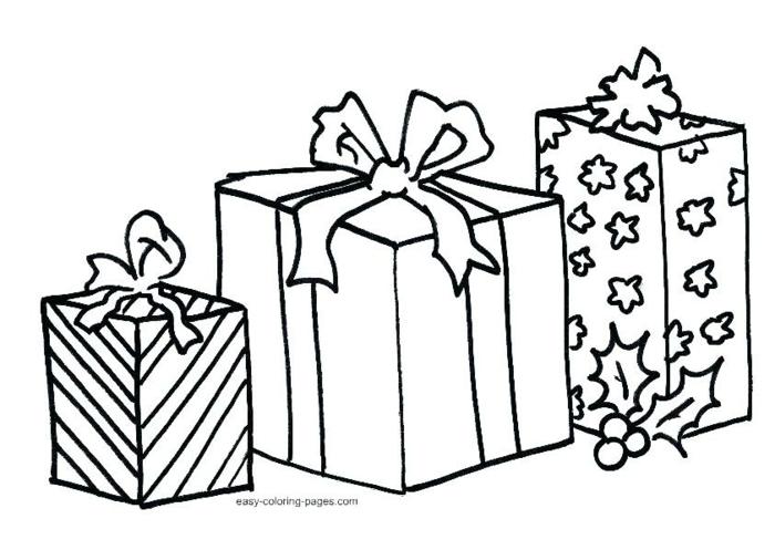 detalles navideños fáciles de dibujar, fotos de dibujos de Navidad para descargar, regalos de diferente tamaño