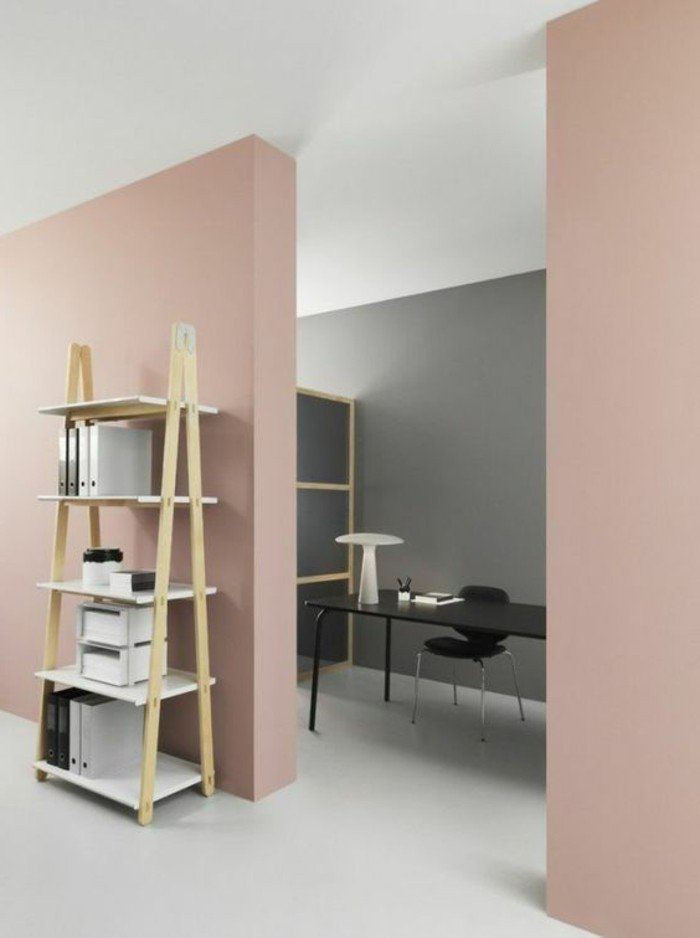 con que color puedo combinar el gris ideas originales, espacio decorado en rosado y gris