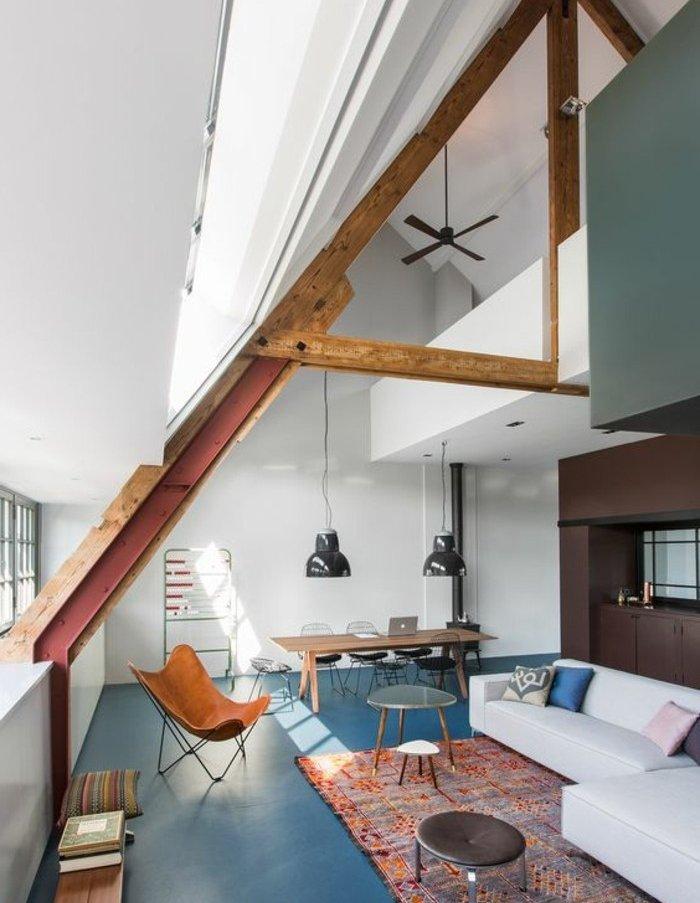 espacio con interesantes elementos arquitectónicos, pared en gris, ideas sobre colores que combinan con gris