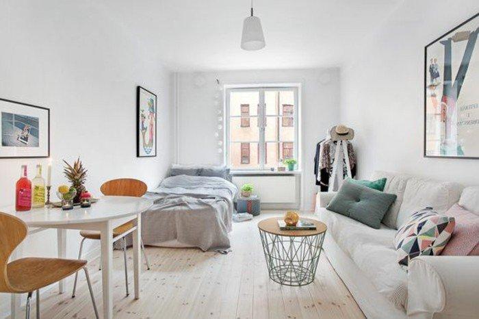 ideas de decoracion pisos pequeños modernos en colores claros con detalles en tonos pastel