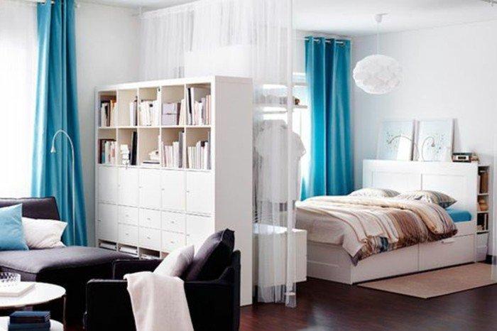 ejemplos de decoracion pisos pequeños modernos, ideas sobre cómo separar un espacio de diseño abierto