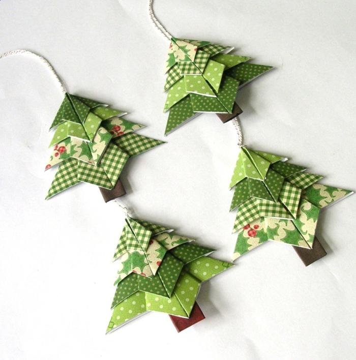mini adornos hechos de cartón, adornos navideños reciclados para adornar tu árbol, ideas de manualidades Navidad