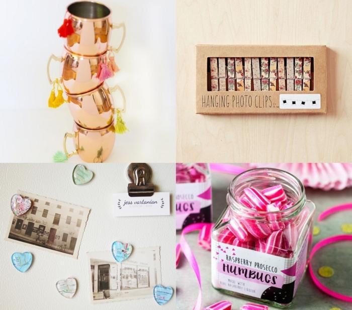 cuatro propuestas de regalos navideños con mucho encanto, regalos amigo invisible 5 euros, tazas, imanes decorativos, caramelos