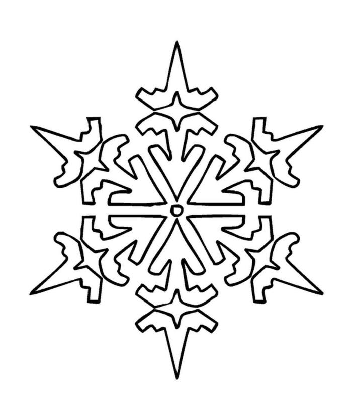 plantillas de copos de nieve para dibujar y colorear, actividades navideñas para niños
