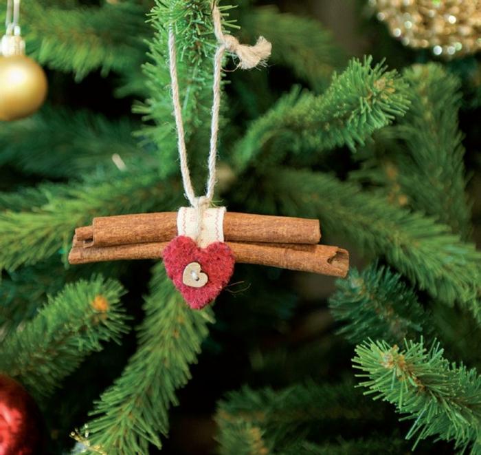 precioso adorno con palos de canela, adornos navideños reciclados, bonitos ornamentos para tu árbol navideño