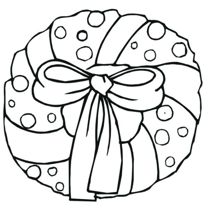 bonita corona navideña, dibujos para colorear que puedes descargar de nuestra galería de imagenes