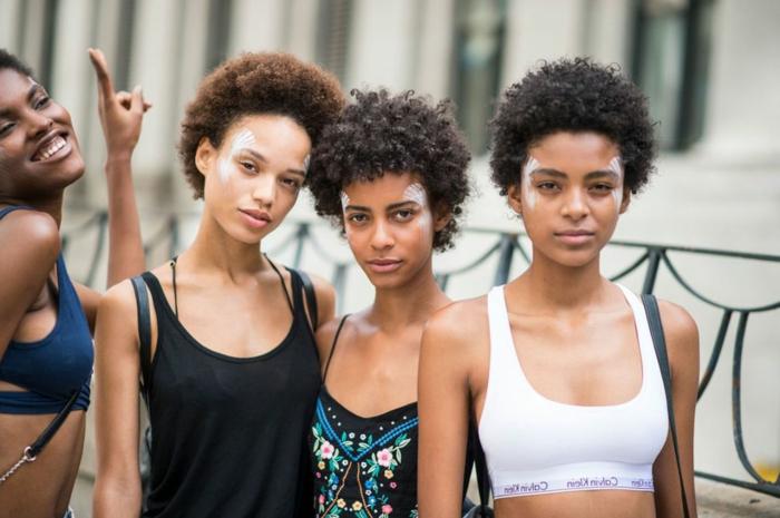cortes de pelo corto cabello afro, últimas tendencias en cortes y peinados para pelo rizado 2018 2019