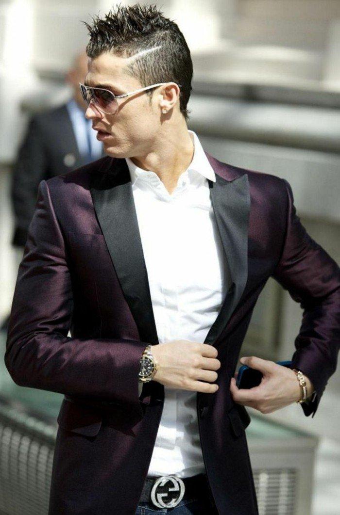 cortes de pelo modernos hombres, últimas tendencias en las celebridades, Cristiano Ronaldo con corte halcón