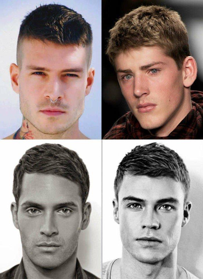 cuatro propuestas de cortes de pelo chico clásicos, corte de pelo corto hombre, bonitas imágines con peinados hombre