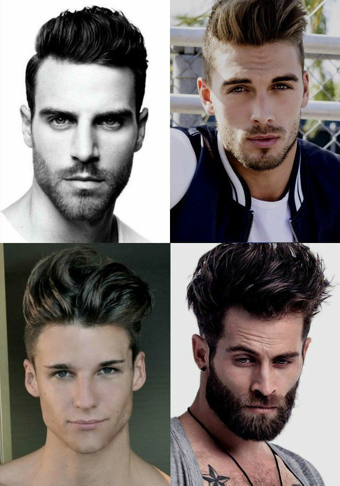 cuatro propuestas de pelados hombre con larga franja, peinados y cortes de hombre 2018 2019