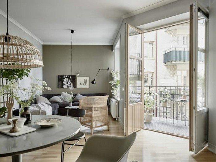 bonitos salones grises con interesantes elementos arquitectónicos, paredes en gris y blanco, salon comedor