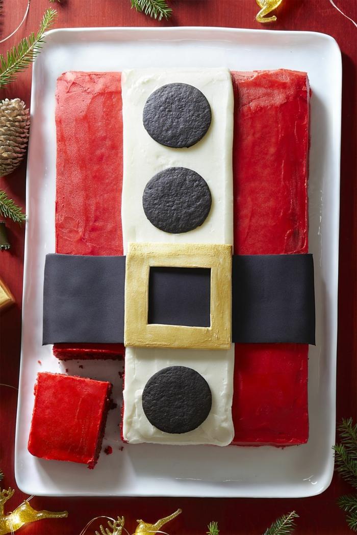 tartas navideñas temáticas, decoración original Papá Noel, recetas de navidad sencillas y economicas