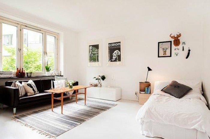 espacios de diseño abierto decorados en estilo vintage, como decorar un piso pequeño paso a paso