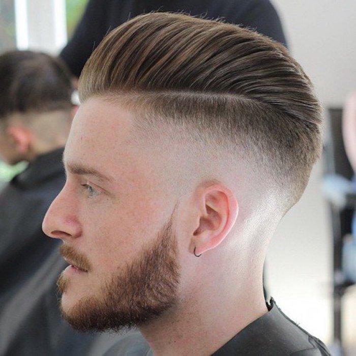 peinados y cortes de pelo hombre con degradado, cabello rubio con tupe, cortes de pelo hombre degradado 2018