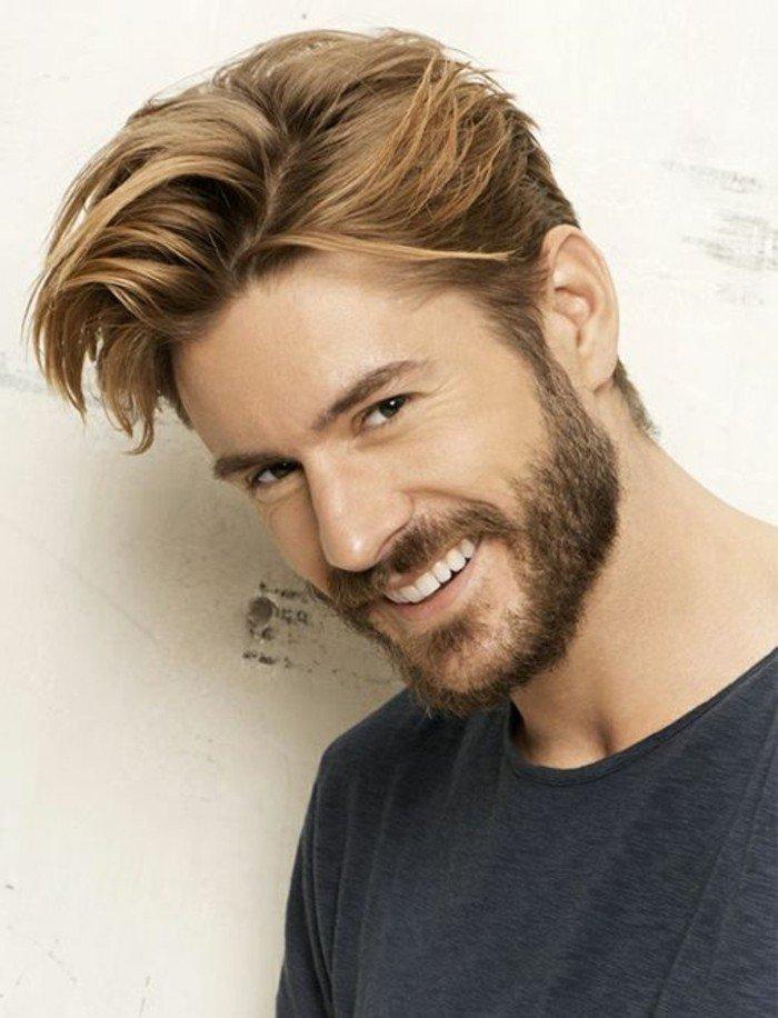 peinados hombre longitud media, cabello color rubio oscuro, ideas de pelados hombre en imágines