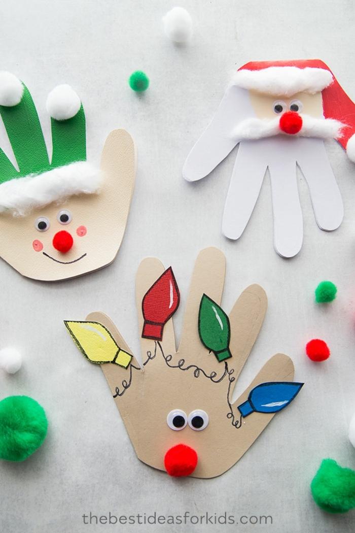 ideas de manualidades navideñas para adultos y pequeños, adornos de cartulina y materiales reciclados