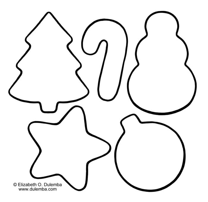 ornamentos de colorear, dibujos descargables bonitas, plantillas de adornos navideños para copiar
