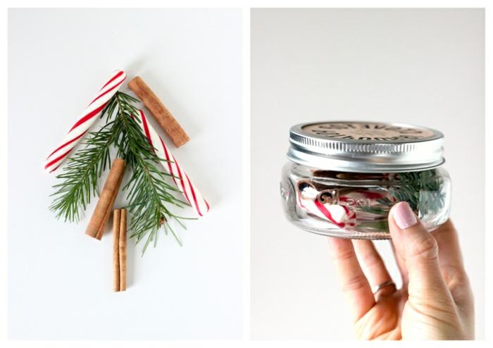 ideas de regalos amigo invisible manual, bote de cristal lleno de pequeños detalles naturales