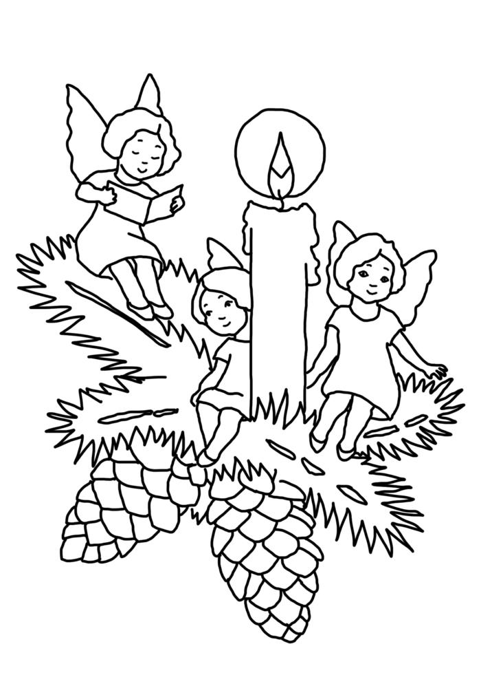 dibujos navideños románticos fáciles de dibujar, dibujos con detalles de Navidad fáciles de copiar