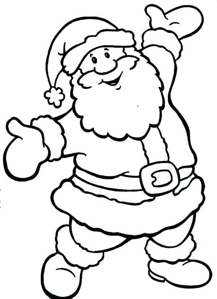 dibujos de papa noel para los pequeños, como colorear un dibujo navideño, fotos imprimibles