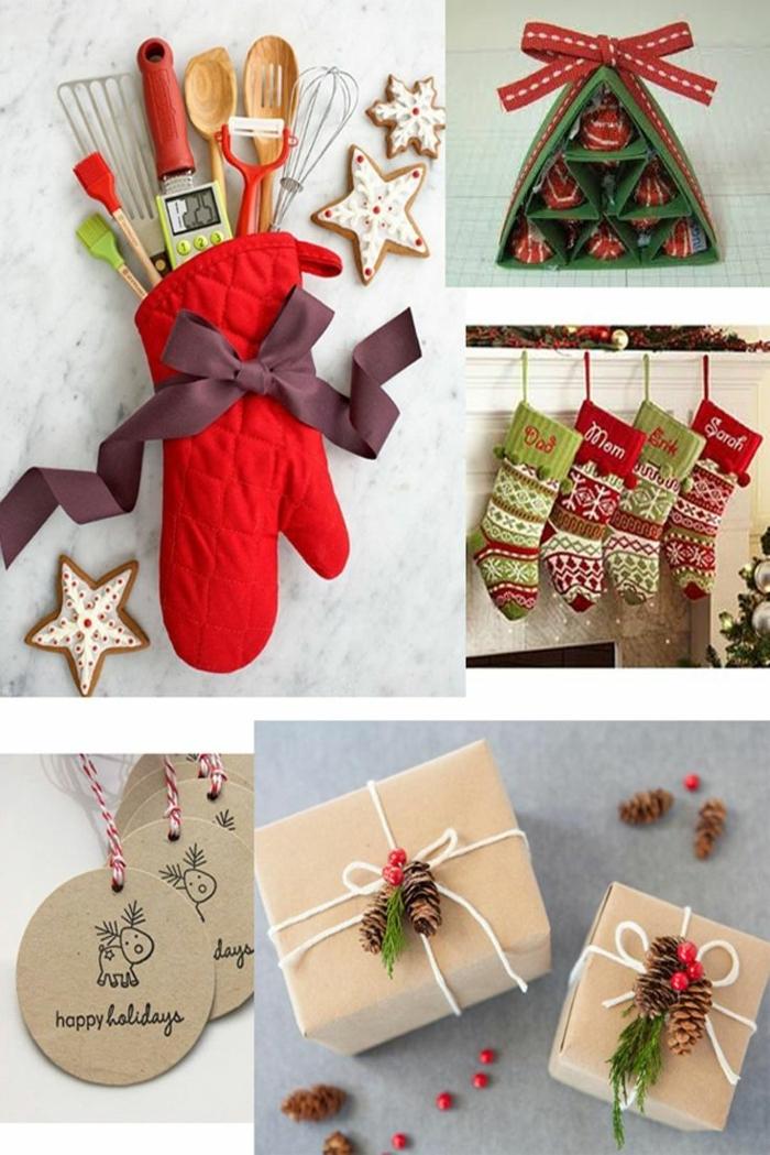 propuestas originales de regalos amigo invisible 10 euros, caramelos, guantes y calcetines navideños