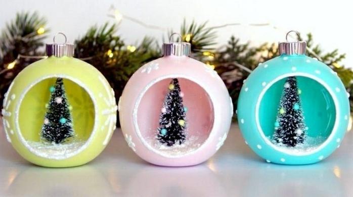 ingeniosas propuestas sobre ornamentos navideños DIY, como adornar la casa en navidad