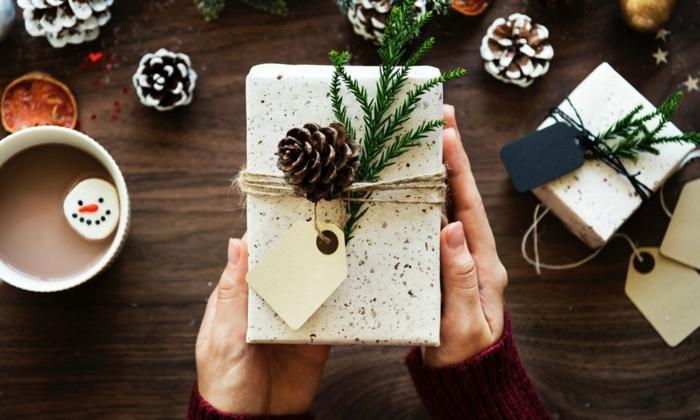 ideas de embalaje para regalos DIY, manualidades para regalar a una amiga para Navidad