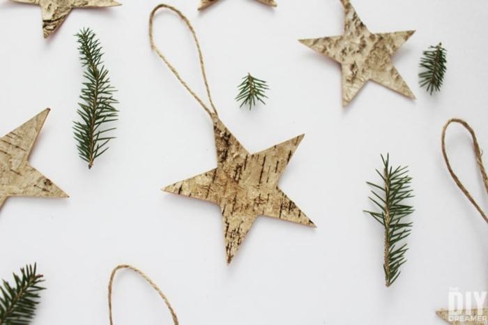 preciosos ornamentos navideños en forma de estrella, manualdiades fáciles y rápidas para adornar tu árbol