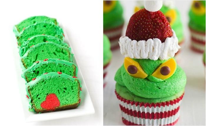 pasteles ricos decorados en verde neon, recetas navideñas faciles y super originales, tarta color verde con detalle corazón