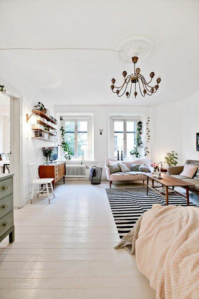 grande espacio decorado de diseño, decoracion pisos pequeños ikea, muebles en tonos pastel