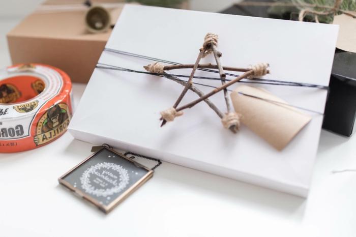 embalaje DIY en estilo escandinavo, manualidades para regalar a una amiga para Navidad