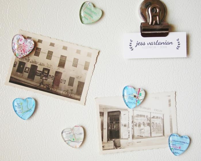 imanes decorativos en forma de corazón, regalos amigo invisible 5 euros, ejemplos de pequeños detalles para regalar en Navidad