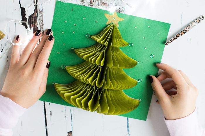 ideas de tarjetas de felicitacion de navidad con una sorpresa dentro, tarjetas tridimensionales