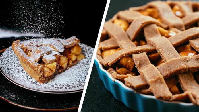 ideas sobre como hacer una tarta de manzana con masa de harina integral, ideas fáciles y rápidas de recetas de postres